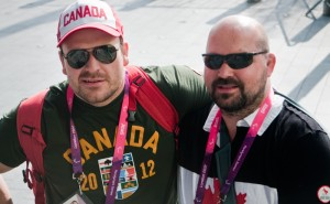 Tim Rees (left), 32, of Victoria, BC, and Tony Walby, 39, of Ottawa, ON, competed in judo at the London 2012 Paralympic Games.