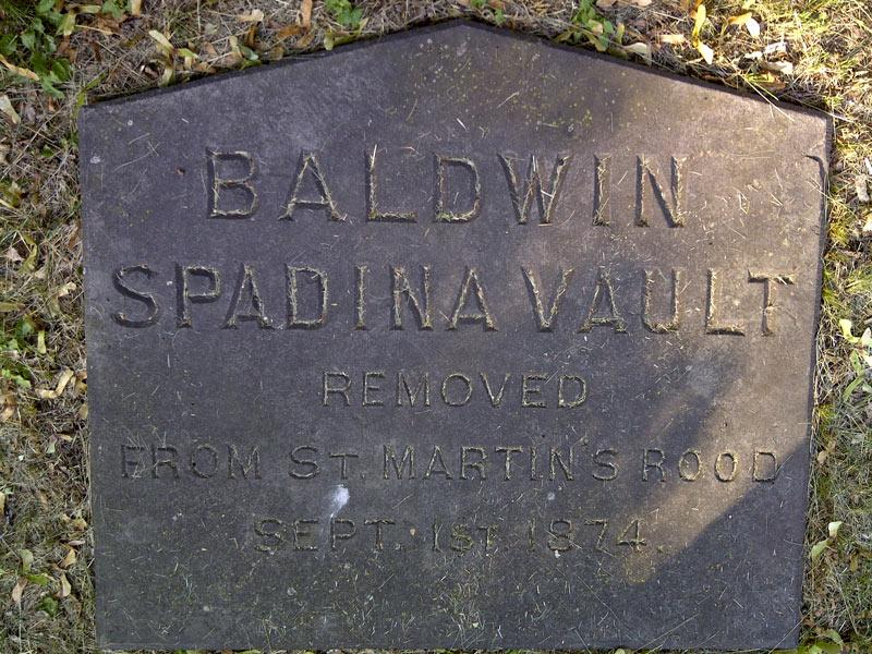 Baldwin's family vault