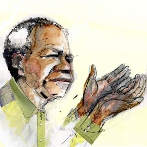 Nelson Mandela 1 by Jason Skinner