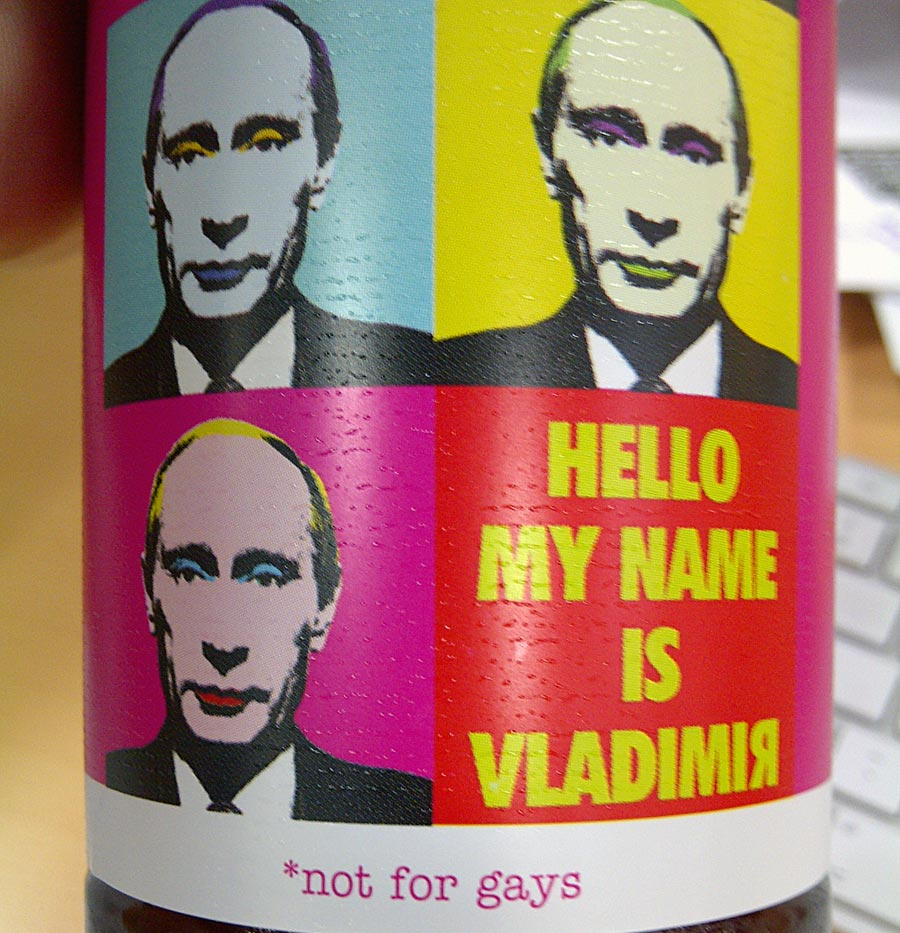 """Hello My Name Is Vladimir"" beer"