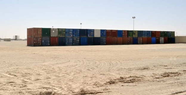 Camp Bastion shipping containers