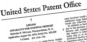 Shipping container patent