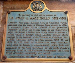 John A Macdonald was here
