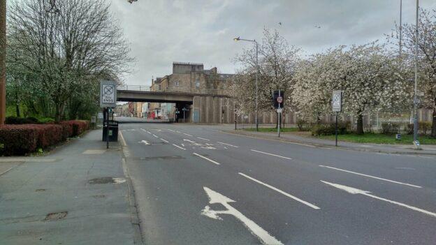 Glasgow's empty streets